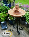 Chelsea Classical Two Tier Solar Cascade Water Feature by Solaray™