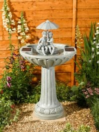 82cm Solar Umbrella Bird Bath Fountain