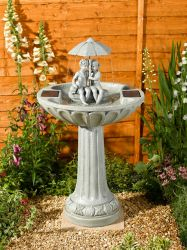 H82cm Umbrella Solar Bird Bath Fountain