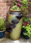 Dempsy Earthenware 4 Tier Cascade Water Feature and Planter