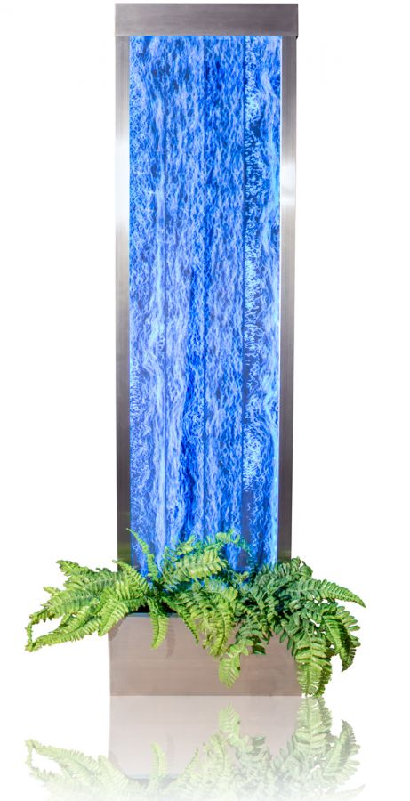 184cm Bubble Water Wall and Planter with Colour Changing LED Lights - Indoor / Outdoor