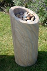 Foras Slanted 100cm Stone Water Feature with LED Lights