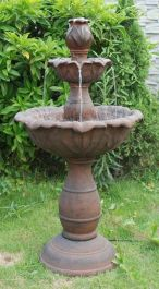 3 Tier Rust Fountain Water Feature