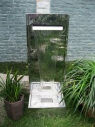 Hanoi Stainless Steel Water Feature with LED Lights