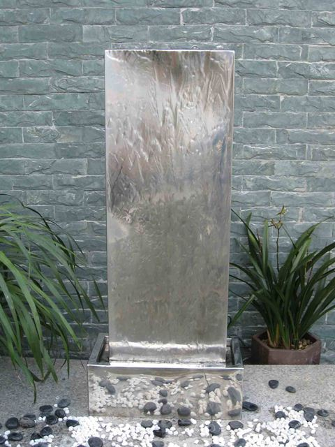 Venice Stainless Steel Water Feature with LED Lights
