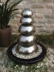 Bologna Stainless Steel 5 Domed Water Feature
