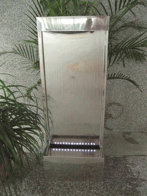 Kiev Stainless Steel Water Feature with LED Lights