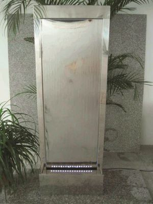 San Jose Stainless Steel Water Feature with LED Lights