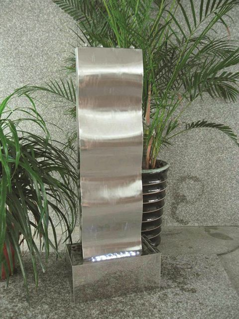 Naples Stainless Steel Water Feature with LED Lights
