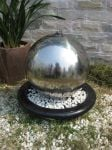 Alger Stainless Steel Sphere Water Feature with LED Lights
