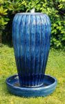 Yasmin Ceramic Fountain Water Feature with LED Lighting