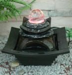 Small Crystal Sphere Water Feature with LED Lights
