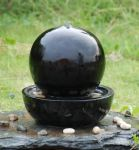 Monica Ceramic Sphere Tabletop Water Feature with LED Lights