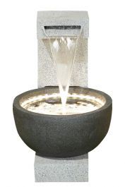H65cm Solitary Pour into Basin Water feature with Lights