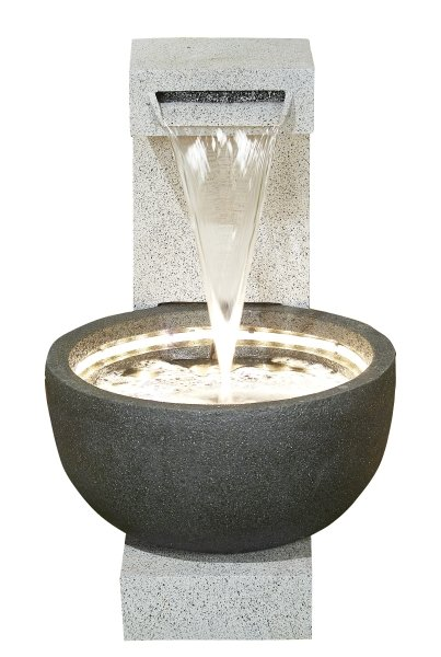 Solitary Pour Water Feature with LEDs