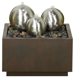 W50cm Radiance Trio of Spheres Stainless Steel Water Feature