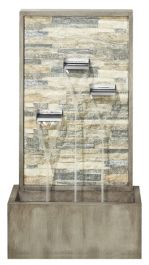 H4ft Mottled Trio Waterfall Zinc Water Feature