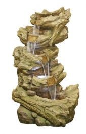 H4ft Hickory Falls 5 Tier Cascading Water Feature with Lights