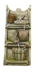 H4ft Cottage Tool Shelf Pouring Water Feature with Lights
