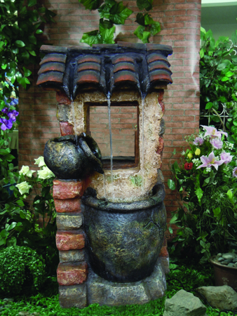 2 Urn Country Cottage Water Feature with Light