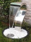 Tripoli Stainless Steel Effect Cascade Water Feature with Lights
