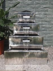 Lagos Stainless Steel Effect Water Feature