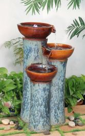 Chavella Glazed Ceramic Effect Fountain with Lights