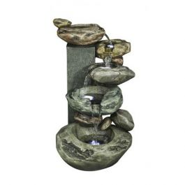 Rockery Cascading Water Feature with Lights - H90cm