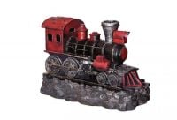 Red Steam Train Water Feature with Lights - H67cm