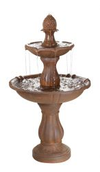 H122cm Rust Effect 3 Tier Fountain by Ambienté™