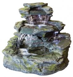 H89cm Garda Falls Water Feature with Lights | Indoor/Outdoor Use