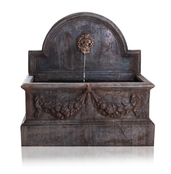 Villarreal Trough Water Feature with Valencia Lion Head Spout - W102cm x H104cm