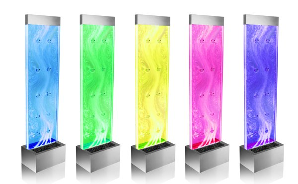 "4ft 9"" / 150cm Sirius Bubble Water Wall with Colour Changing LED Lights - Indoor Use"