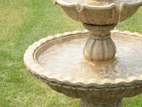 1.5m Regal 3 Tier Stone Fountain with Antique Finish by Ambienté™