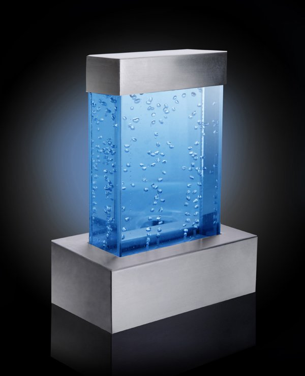 Nebula Tabletop Rectangular Bubble Wall Water Feature With