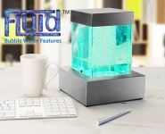 Spectrum Tabletop Square Bubble Tower with Colour Changing Lights