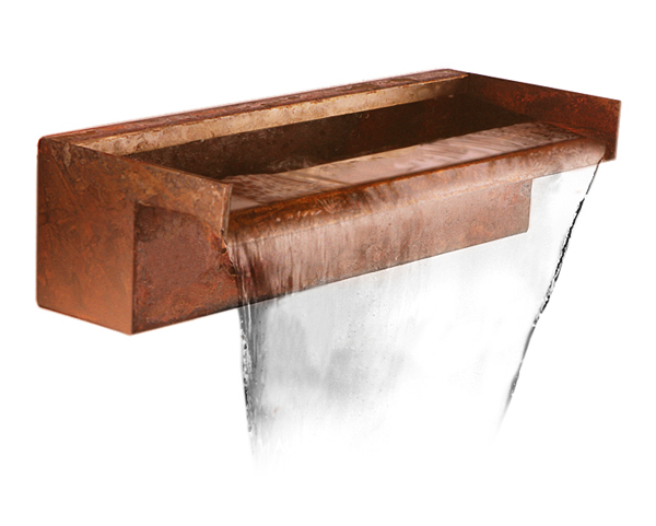 60cm Corten Steel Waterfall Blade Cascade (Sheer Descent)