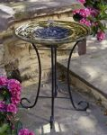 Smart Solar Celtic Spring Solar Powered Glass Bird Bath Water Feature