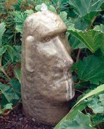 Moai Head Fountain