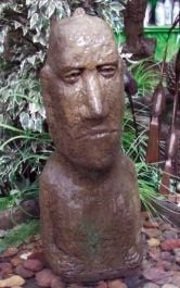 Large Moai Head Fountain