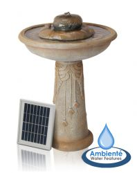 Floriana Bird Bath Solar Powered Water Feature by Ambienté™ H66cm