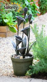 H66cm Howden Solar Cascading Water Feature by Solaray