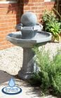 Octavius Bird Bath Water Feature with Lights by Ambient� (H89cm)