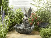 42cm Smart Solar Fairy Leaf Water Feature