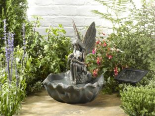 42cm Fairy Leaf Solar Water Feature