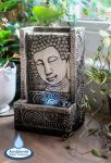 Buddha Resin Tabletop Water Feature with Lights by Ambient�