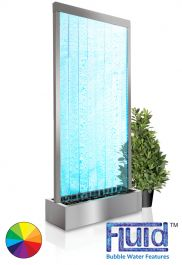 H213cm Elysium Bubble Water Wall with Colour Changing LEDs | Indoor Use - by Fluid