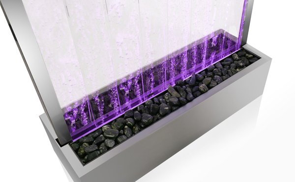 213cm Elysium Bubble Water Wall with Colour Changing LED Lights - Indoor Use