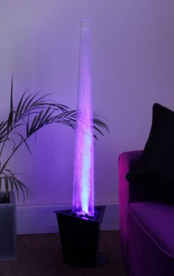 "4ft 2"" / 130cm Nirvana Bubble Tapered Column Water Feature with Colour Changing LED Lights - Indoor Use"
