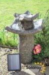 Pavillion Solar Bird Bath Water Feature by Solaray™ H62cm
